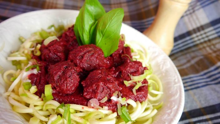amrutha lounge vegan spagehtti meat balls